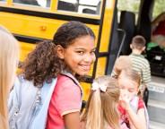 kid school bus backpack